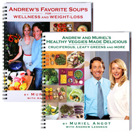 Book-Andrew-s-Favorite-Soups-And-Healthy-Veggies-Cookbook-Bundle-by-Muriel-Angot-with-Andrew-Lessman