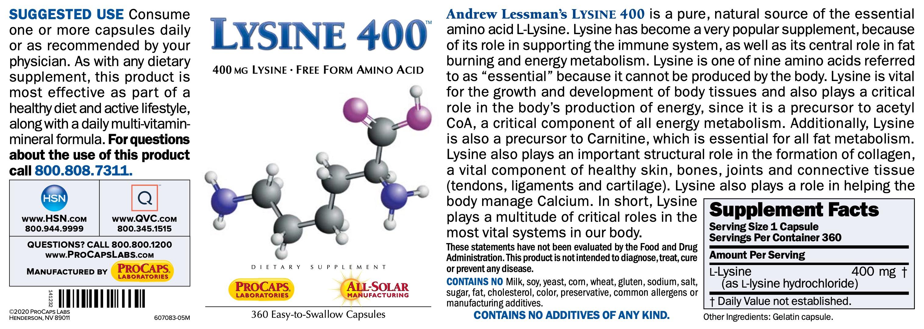 Lysine-400-Capsules-Amino-Acids