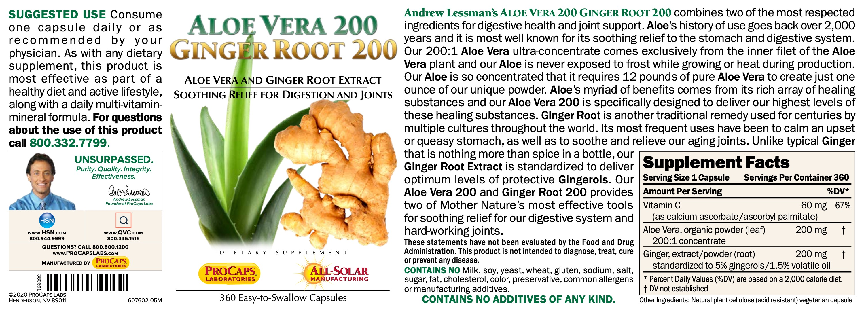 Aloe-Vera-200-Ginger-Root-200-Capsules-Digestive-Support