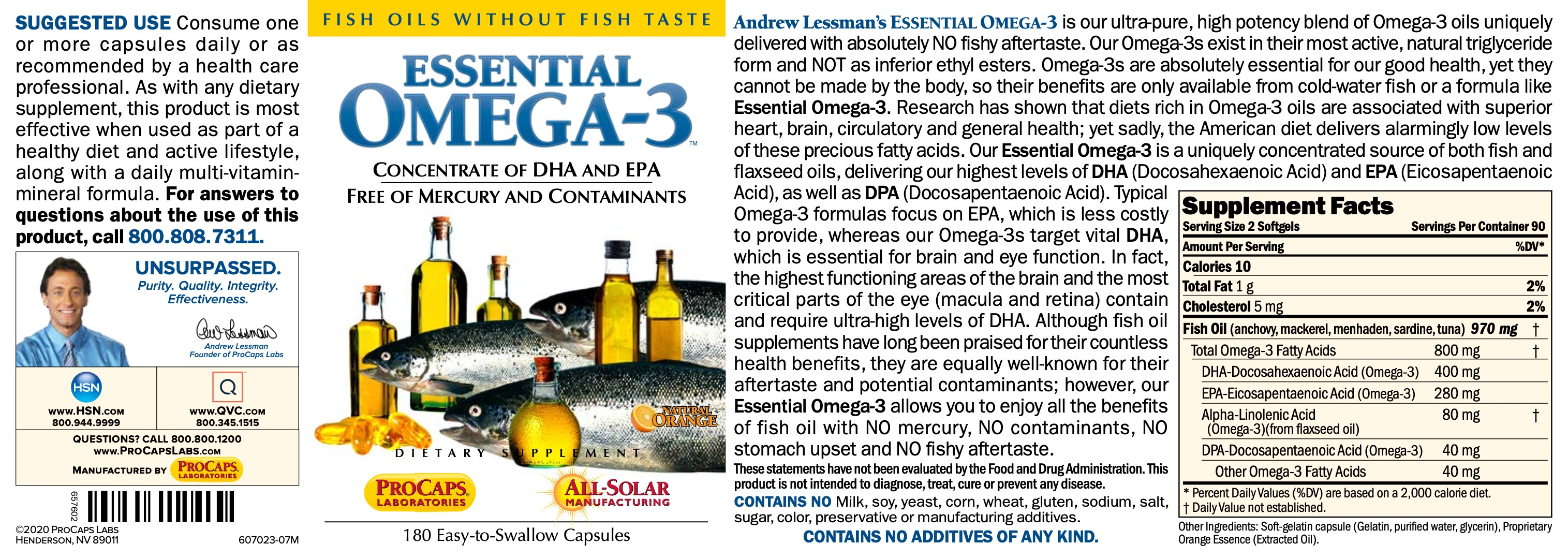 Essential-Omega-3-No-Fishy-Taste-Orange-Softgels-Cardiovascular-Health
