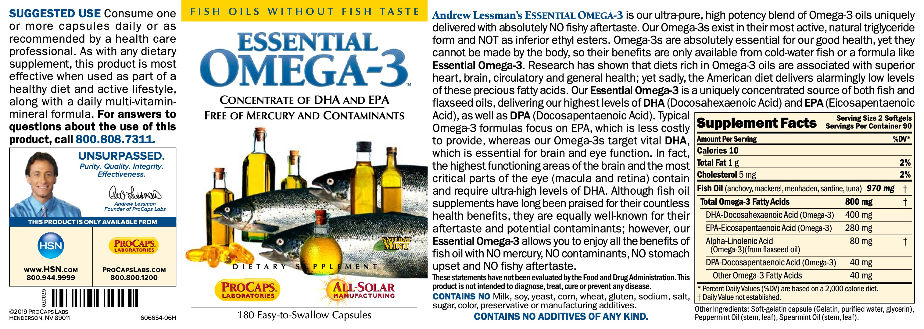 Essential-Omega-3-No-Fishy-Taste-Mint-Softgels-Cardiovascular-Health