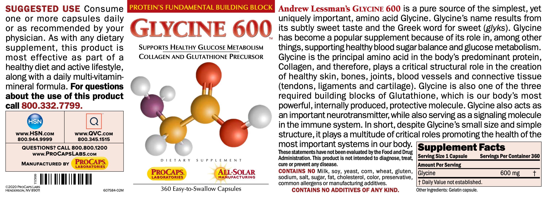 Glycine-600-Capsules-Amino-Acids