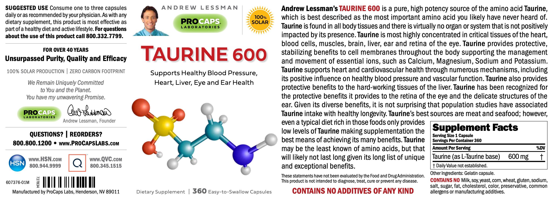 Taurine-600-Capsules-Amino-Acids