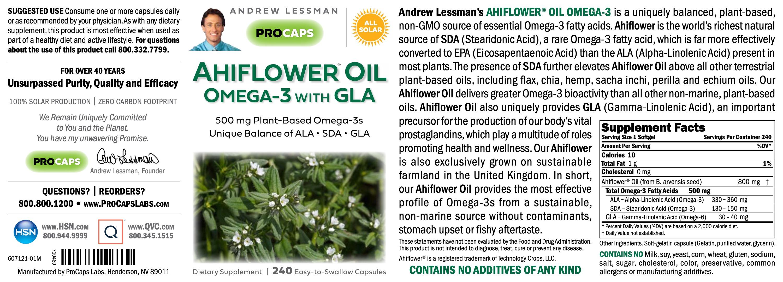 AhiFlower-Oil-Omega-3-with-GLA-Softgels-Cardiovascular-Health