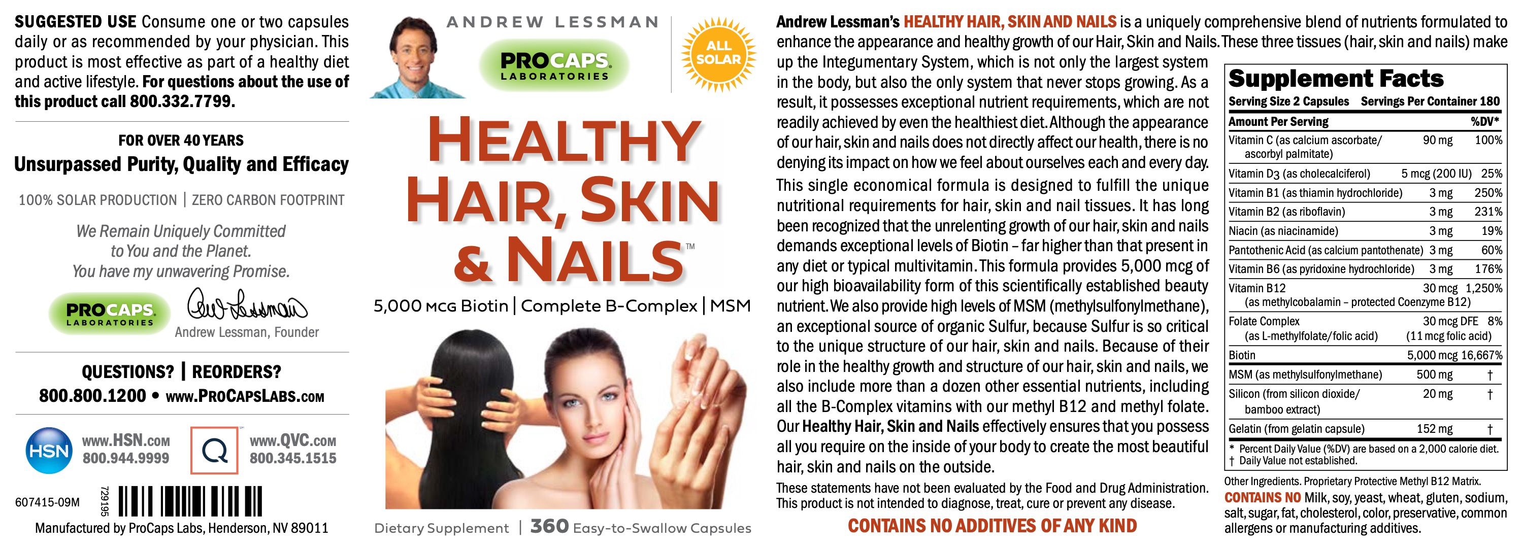 Healthy-Hair-Skin-And-Nails-with-5-000-mcg-Biotin-Capsules-Beauty