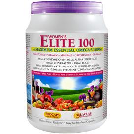 Multivitamin - Women's Elite-100™ with Maximum Essential Omega-3 1,000 mg